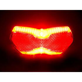 Busch + Müller Toplight View Brake Tec Cykellygte med bremselysfunktion, rød/gennemsigtig